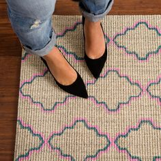 Paint Your Own Patterned Rug on the Cheap via Brit + Co.