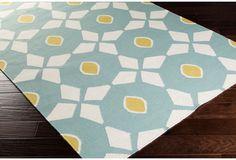 Eros Flat-Weave Rug, Slate Gray/Multi | Artful Inspiration | One Kings Lane