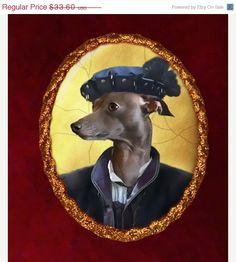 ON SALE Italian Greyhound Dog Jewelry Brooch by NobilityDogs, $30.60
