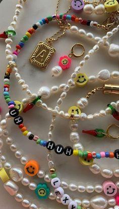 Trendy Jewelry, Summer Jewelry, Cute Jewelry, Jewelry Accessories, Jewelry Crafts, Bead Jewellery, Beaded Jewelry, Jewelery, Handmade Jewelry