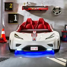 Cilek Champion GTS Coupe Italia Twin Car Bed | Wayfair Twin Car Bed, Kids Car Bed, Race Car Bed, Race Cars, Teen Boy Bedding, Blue Bedding, Bedding Sets, Childrens Room Decor, Childrens Beds