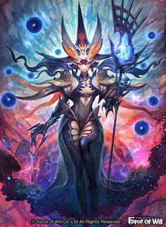 トレーディングカードゲーム  Force of Willにて制作させていただいた 【  虚空の魔導師 ゼロ  】です。悪の道に落ちた大賢者という結構自分好みのカードでした!フトモモ フトモモhttp://fow-tcg.com/