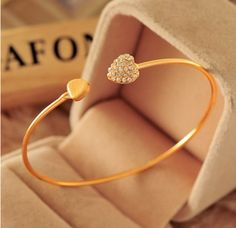 ef4683b9ecb2 ... double heart bow cuff opening bracelet is charming. Great gift to  yourself and to that special person. Shipping time  USA and Canada - 1 to 3  weeks Rest ...