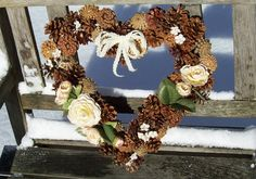 Unique Pine Cone Wreaths. Great for Mother's Day, Valentine's Day, or year-round. www.etsy.com/shop/NaturesCraftSupply