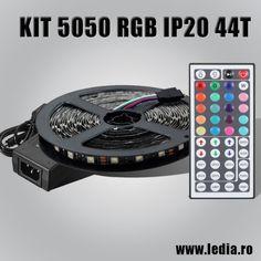 KIT BANDA LED RGB IP20 44 TASTE Tlc Music, Blue Green, Blue And White, Led Strip, Music Instruments, Kit, Romania, Duck Egg Blue, Musical Instruments