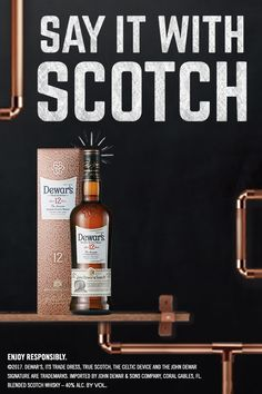 Because it's double aged, it's twice the gift. Need more inspiration? Try a Dewar's 12 Year-Old Blended Scotch Dramble: • 50 mL Dewar's 12 • 25 mL Lemon Juice • 12.5 mL Sugar Syrup • 10 mL Crème De Mure