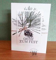 Stampin Up Cards Christmas Weihnachtskarte mit unserem wunderschönen neuen Stempel gefertigt. Stampin' Up! - Shop in Osnabrück http://pegwel.bastelblogs.de