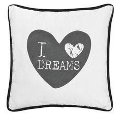 Sierkussen Rudolph: stoer I <3 Dreams kussen voor op de bank of op bed #HomeLabel