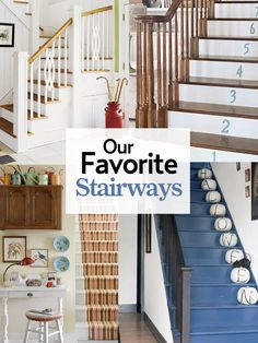 It may be small and narrow, but that doesn't mean your stairway can't get the same decorating treatment as the rest of your house. These best staircase ideas will give your entryway a step up. Diy Apartment Decor, Diy Home Decor, Staircase Makeover, Staircase Ideas, Stairway Storage, Hallway Colours, Hobby House, Foyer Decorating, House Stairs