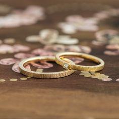 ゴールドの結婚指輪:Pioggia(ピオージャ)  [ Gold K18 ダイヤモンド マリッジリング marriage Ring wedding]