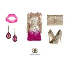 ¡Con la combinación de dorado y rosa brillarás hoy en la noche!