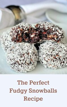From Rock Recipes The Perfect Newfoundland Snowballs Recipe - my grandmother's recipe for these oatmeal and fudge balls has consistently been in our TOP TEN recipes for the past 6 years. Rock Recipes, Candy Recipes, Holiday Recipes, Cookie Recipes, Dessert Recipes, Fudge Recipes, Christmas Recipes, Just Desserts, Delicious Desserts