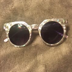 Holographic sunglasses Forever 21 holographic sunglasses. Never worn Forever 21 Accessories Sunglasses