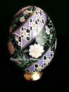Morning Glory Pysanky Pysanka Batik Egg: by PysankyByDonnaJ
