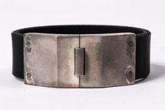 Box Lock Bracelet (Facet, Narrow, BLK+AS)