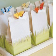 "See the ""Butterfly Favor Bags"" in our Kids' Party Favors gallery - Party Ideas Birthday Party Favors, Birthday Parties, Diy Birthday, Birthday Ideas, Birthday Presents, Birthday Decorations, Garden Party Favors, Easter Presents, Wedding Decorations"