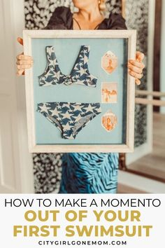 With a little planning and some craft supplies, I made our old baby swimwear into treasured keepsakes. Here's how to create your own baby bikini shadow box! Baby Bikini, Baby Swimwear, Baby Baden, Shadow Box Art, Parenting Done Right, Raising Girls, Baby Keepsake, Beach Fun, Fun Projects