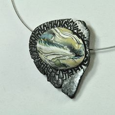 polymer clay pendant by Jan Geisen