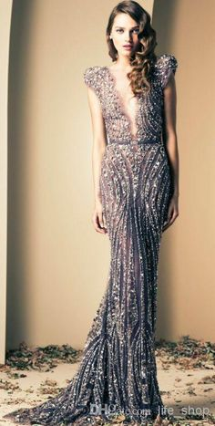 Cheap Covered Button - Discount Mermaid Evening Gowns Prom Dresses Vintage Plunging Beaded Online with $226.18/Piece   DHgate