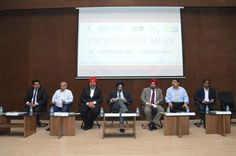 Dignitaries of the dais from left to right Shri Rajat Srivastava, Regional Director, EEPC INDIA, Mumbai, Shri M.K. Desai, Regional Chairman, EEPC INDIA, Southern Region, Shri Gurpreet Bagga, President, CMIA Aurangabad, Shri B. S. Bhalla, Jt. Secretary, Ministry of Commerce & Industries, Govt. of India, Shri T. S. Bhasin, Chairman, EEPC INDIA, Shri Sanjay Chavre, SDO, DHI, Govt. of India, Shri Suresh Todkar, Committee Member, CMIA, Aurangabad