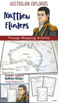 Australian Explorers - Matthew Flinders. Designed for Year 5 HASS Australian Curriculum. This activity is great fun, allowing students to track Flinders�� voyage around Australia. Students are also required to use an atlas or online means to record importa
