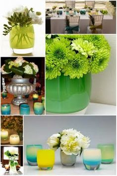 green, decorations, spring, tablescape