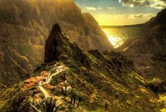 """The mountain village """"Masca"""" on the island of Tenerife, Spain. Tenerife, Rest Of The World, Wonders Of The World, Mountain Village, Hdr Photography, Tumblr, Modern City, Canario, Canary Islands"""