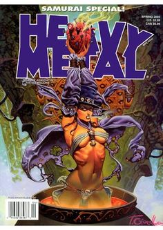 Heavy Metal Magazine Fan Page - Magazine List - Front Covers Heavy Metal Movie, Heavy Metal Art, Heavy Metal Bands, Metal Magazine, Magazine Art, Magazine Covers, Metal Artwork, Cool Artwork, Pinup