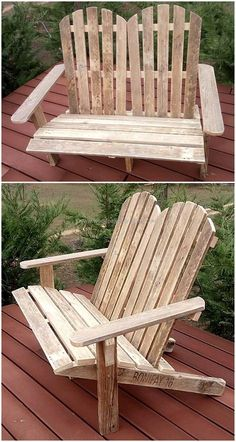 reused wooden pallets made chairs