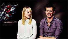 Emma Stone and Andrew Garfield (gif)