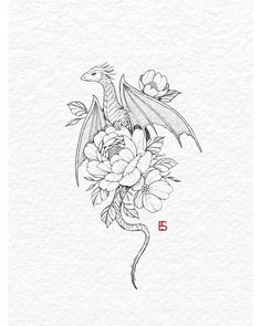 Tattoo Artist Ella on inktober day 12 - dragon All of my inktober designs will be available as tattoos at the end of the month! Ill take bookings for them on Small Dragon Tattoos, Dragon Tattoo For Women, Chinese Dragon Tattoos, Dragon Tattoo Designs, Small Tattoos, Cute Dragon Tattoo, Dragon Tattoo Drawing, Temporary Tattoos, Dragon Tattoo With Flowers