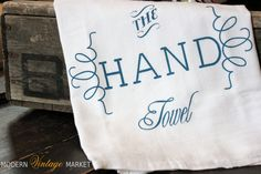 The Hand Towel flour sack kitchen towels   by MODERN VINTAGE MARKET #towel #kitchen #Modern Vintage Market #hand towel #tea towel #flour sack towel #dish towels