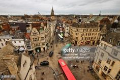 Elevated view of Oxford City Center. (So Jennifer came home again to attend art school and live at Cherry Close.)