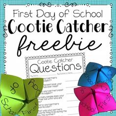 FIRST DAY OF SCHOOL ACTIVITY Who doesn't love making a cootie catcher?! I feel like it is a childhood requirement. This year, all of my students will have spelling partners. I am planning to use this activity for them to get to know their new spelling buddy. Fifth Grade, Grade 3, Second Grade, Primary Classroom, School Classroom, Classroom Ideas, Student Teacher, Teacher Stuff, Teacher Pay Teachers