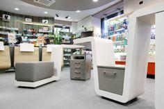 Arredamento farmacia - Studio Mario Fanelli, Torino - Farmacia Burzio