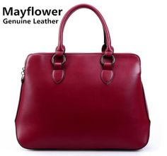 New 2014 famous brand 100% genuine leather women handbags shoulder women messenger bags OL ladies briefcase, Free Shipping $56.00