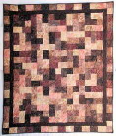 Brown Batik Hopscotch Quilt Kit
