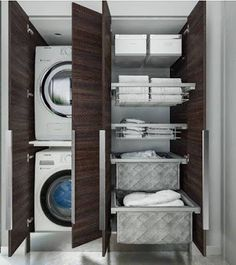 Laundry Room Organization, Laundry Room Design, Garage Laundry, Dressing Room Design, Home Reno, Closet Space, Home Hacks, Small Bathroom, Bathrooms