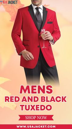 When in doubt wear Men Red Tuxedo an eye-catching dress for the parties which can give you an attractive look in a group for sure.