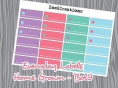 Functional Everyday Label Planner Stickers  Home by ZoeKCreations
