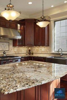 decoración de cocina sencilla de granito