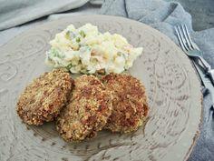 Fazolové karbanátky – Snědeno.cz Vegan, Chicken, Ethnic Recipes, Fit, Shape, Vegans, Cubs