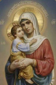 Resultado de imagen para virgen maria madre y jesus