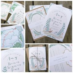 Wedding Stationery Designed by Orphans for an English Country Wedding
