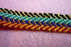 Harry Potter House Colours Braided Friendship Bracelet. I should try to make this!