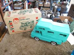 L792 Early Nylint Ford Econoline camper Pick Up Truck with Box RARE 60'S | eBay