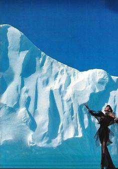 "ergallais: ""Claude Heidemayer & Anna Bayle in Thierry Mugler by Thierry Mugler, Groenland. Avenue Magazine Dec. 1987. Groenland. """