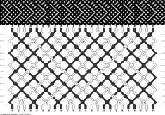 24 strings, 12 rows, 2 colors friendship bracelet
