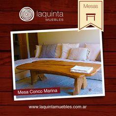Mesa Conco Marina, realizada en madera castaño y con un estilo bajo ideal para el living. ¡Decora tu hogar con utilidad!