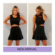 2 piece set crop top and peplum hem skirt by Batelboutique on Etsy, €70.00